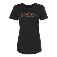 Load image into Gallery viewer, STLHD Women's Stealth Black  T-Shirt - hhoutfitter