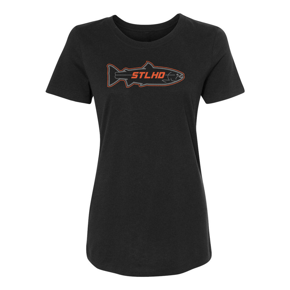 STLHD Women's Stealth Black  T-Shirt - hhoutfitter