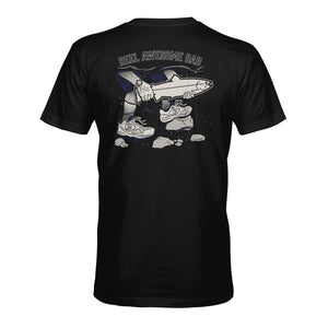 STLHD Men's Reel Awesome Dad Black T-Shirt - hhoutfitter