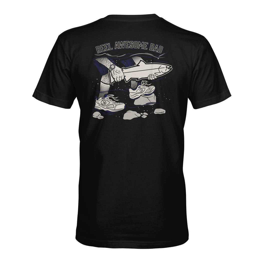 STLHD Men's Reel Awesome Dad Black T-Shirt - H&H Outfitters