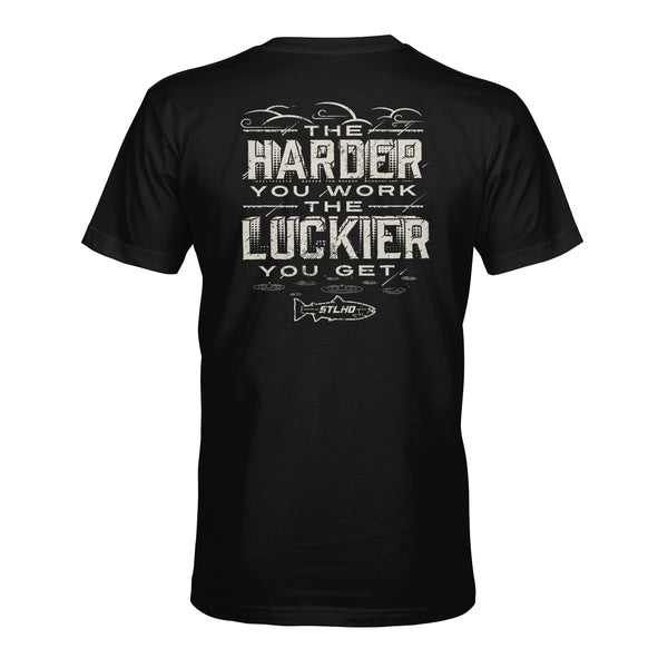 STLHD Men's Work Hard Black T-Shirt - hhoutfitter