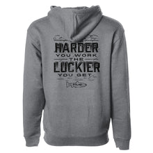 Load image into Gallery viewer, STLHD Men's Work Hard Gunmetal Premium Hoodie - hhoutfitter