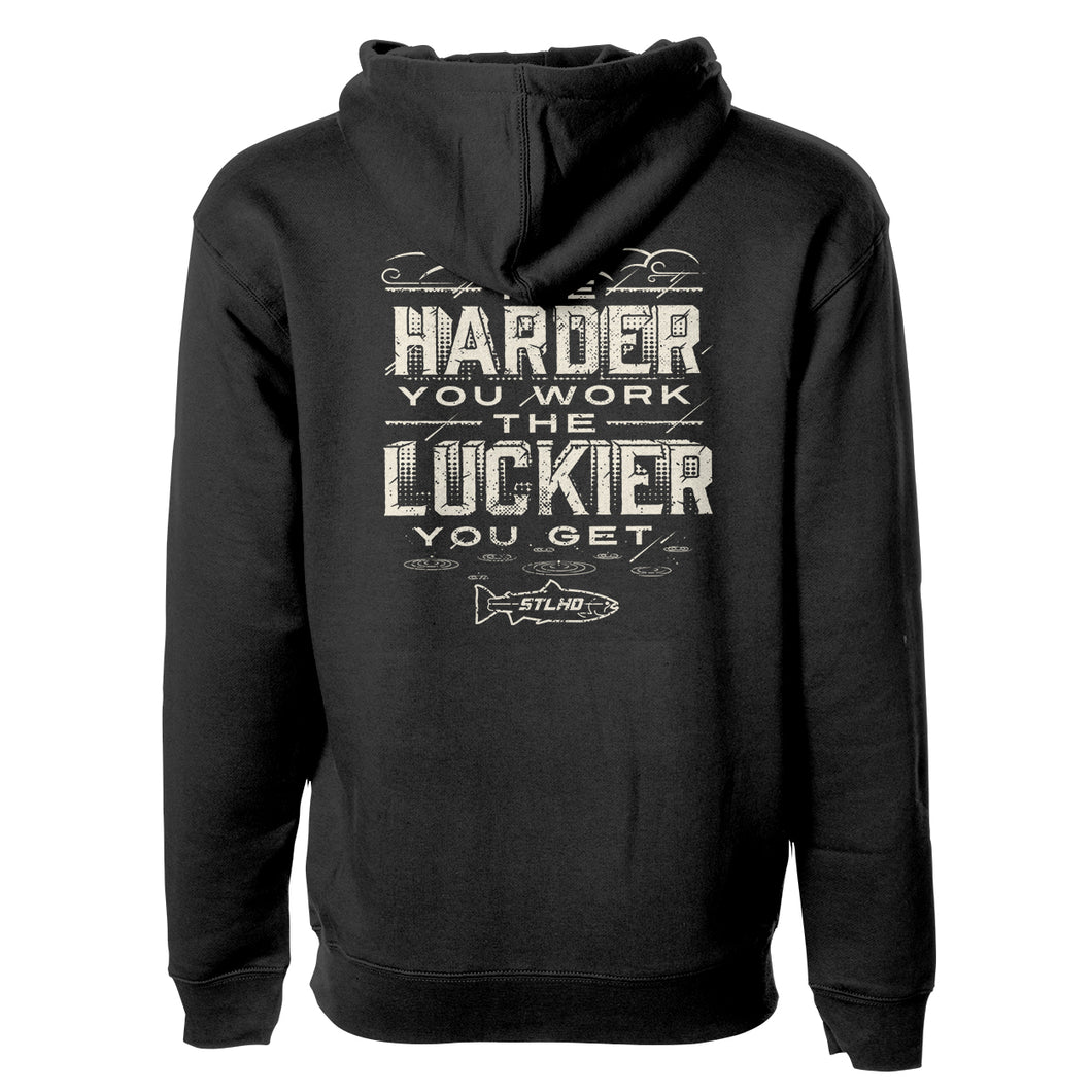 STLHD Men's Work Hard Black Premium Hoodie - H&H Outfitters