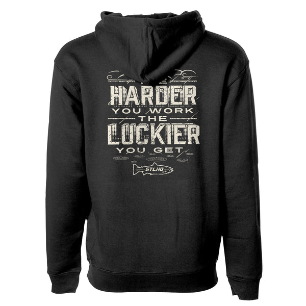 STLHD Men's Work Hard Black Premium Hoodie - hhoutfitter