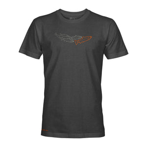 STLHD Men's Journey Charcoal T-Shirt - hhoutfitter