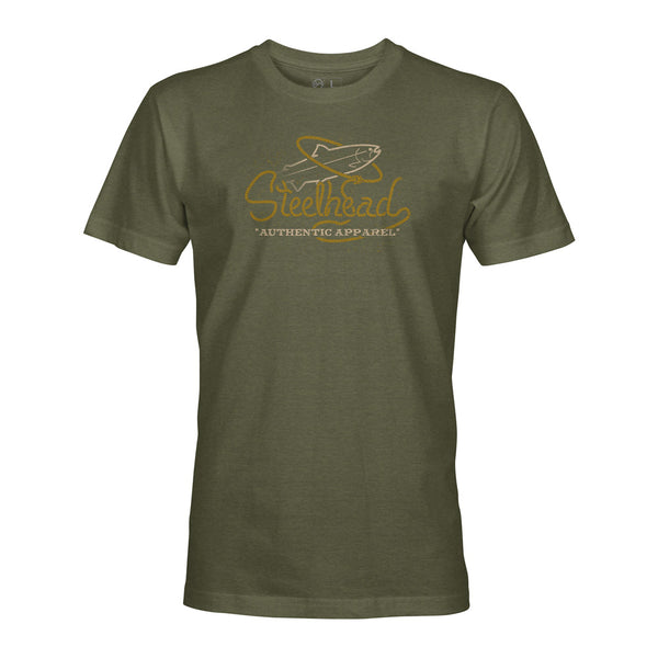 STLHD Men's Buckaroo Military Green T-Shirt - hhoutfitter