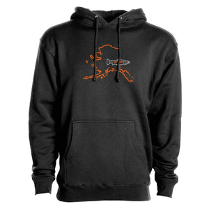 STLHD Men's Alaska Home Water Series Black Premium Hoodie
