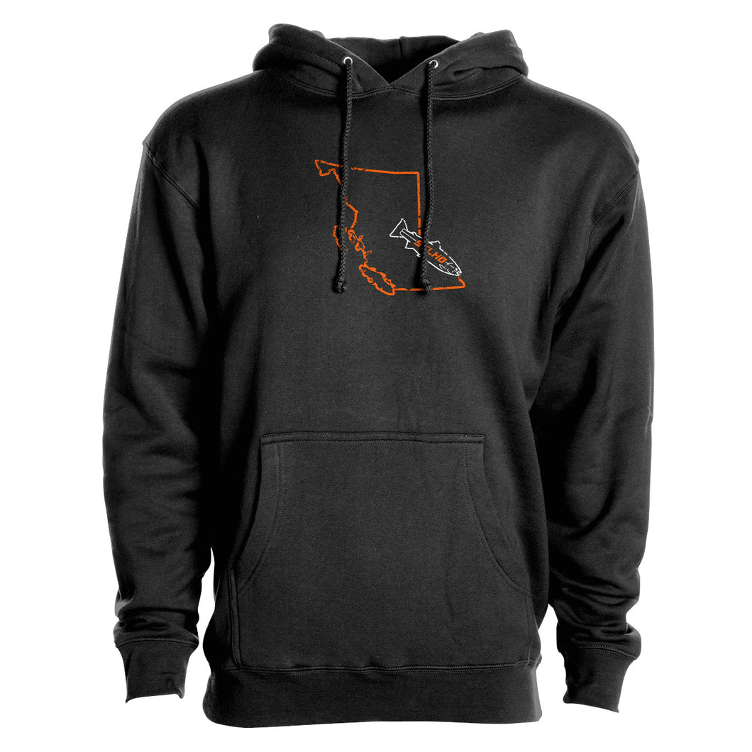 STLHD Men's British Columbia Home Water Series Black Premium Hoodie
