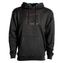 Load image into Gallery viewer, STLHD Men's Oregon Home Water Series Black Premium Hoodie