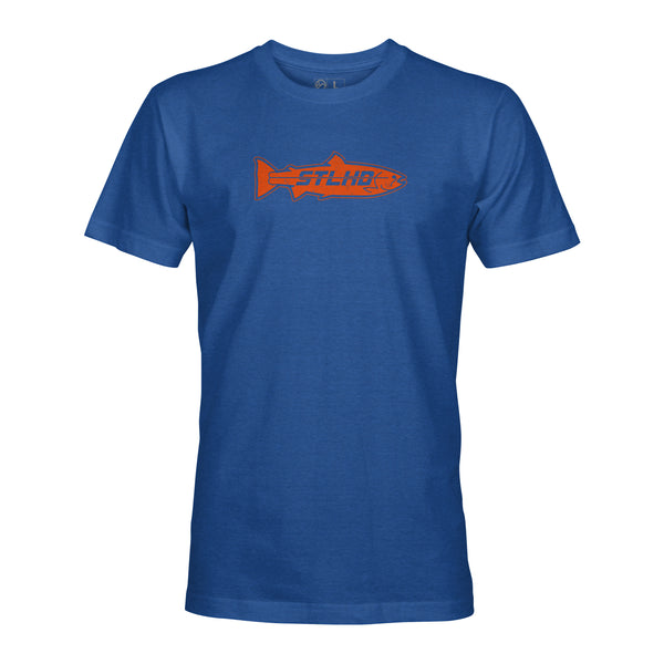 STLHD Men's Orange Inside Royal Blue T-Shirt