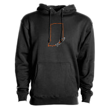 Load image into Gallery viewer, STLHD Men's Indiana Home Water Series Black Premium Hoodie
