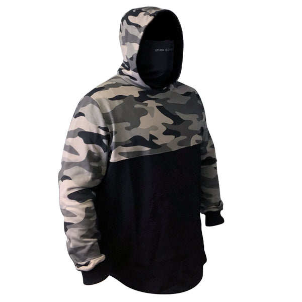 STLHD Men's River Runner Stealth Black Camo Hoodie