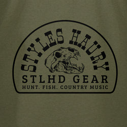 STLHD Men's Styles X STLHD Bear Country Army Green T-Shirt