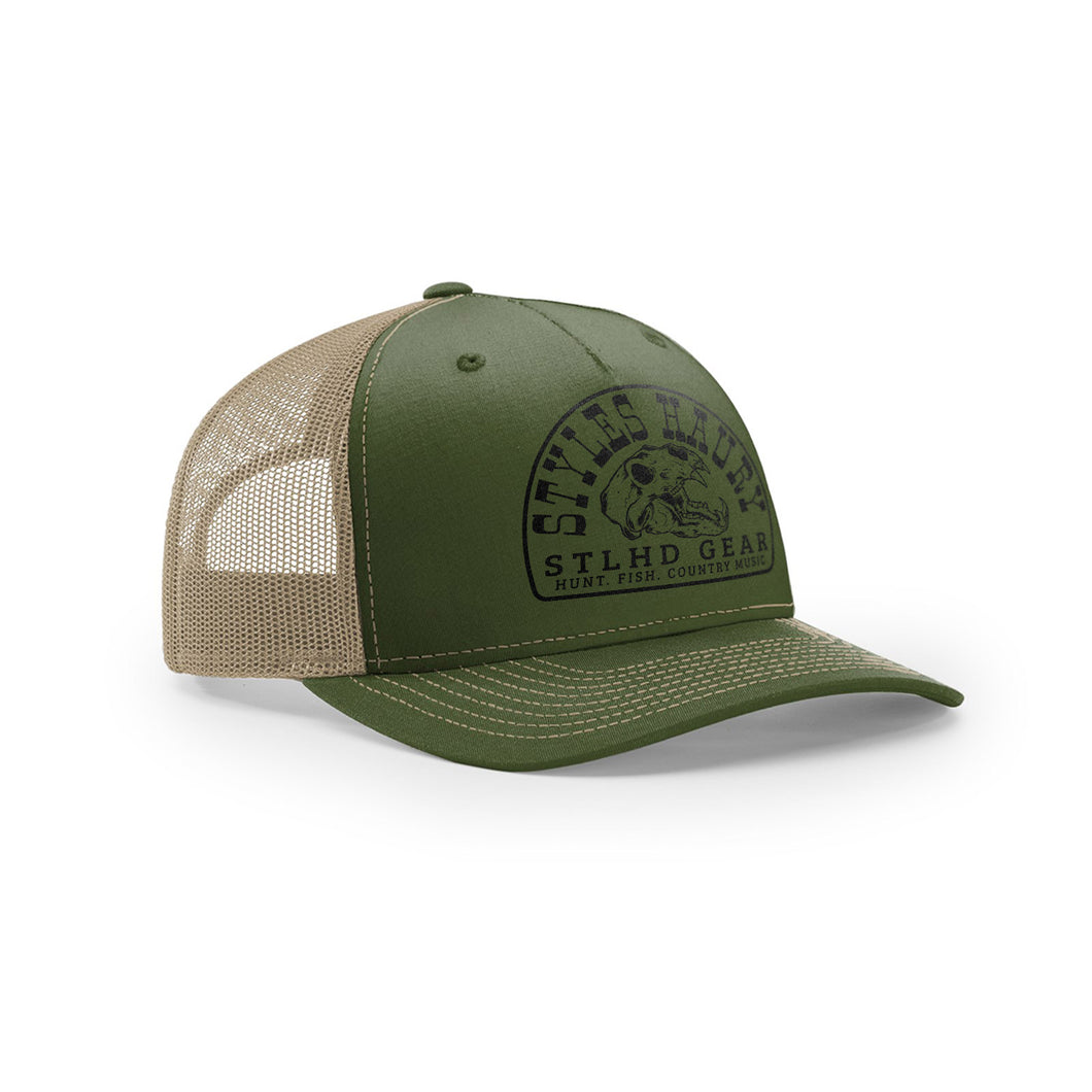 STLHD Styles X STLHD Bear Country Army/Tan Snapback Trucker Hat