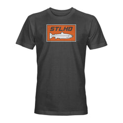 STLHD Men's Standard Logo Charcoal T-Shirt