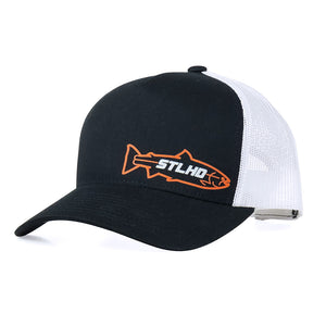 STLHD O.P. Black/White Snapback Trucker Hat