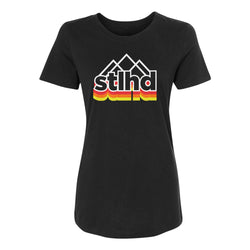 STLHD Women's Peak Black T-Shirt
