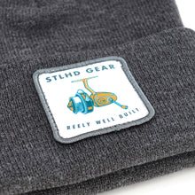 Load image into Gallery viewer, STLHD Reely Well Built Grey Beanie Knit Hat