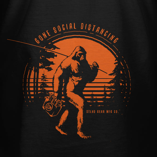 STLHD Men's Gone Social Distancing Black T-Shirt - hhoutfitter