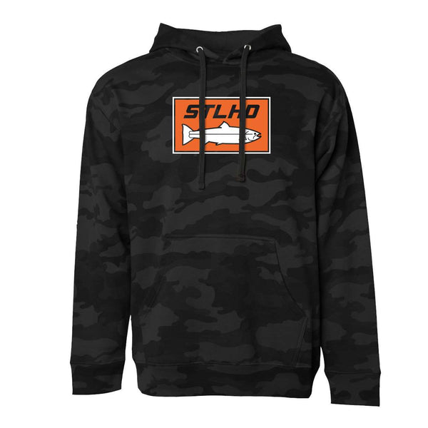 STLHD Men's Midnight Black Camo Black Standard Hoodie - hhoutfitter