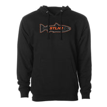 Load image into Gallery viewer, STLHD Men's Stealth Black Standard Hoodie - H&H Outfitters