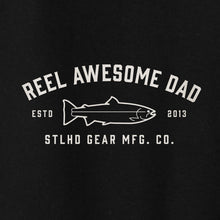 Load image into Gallery viewer, STLHD Men's Reel Awesome Dad Black Standard Hoodie - H&H Outfitters