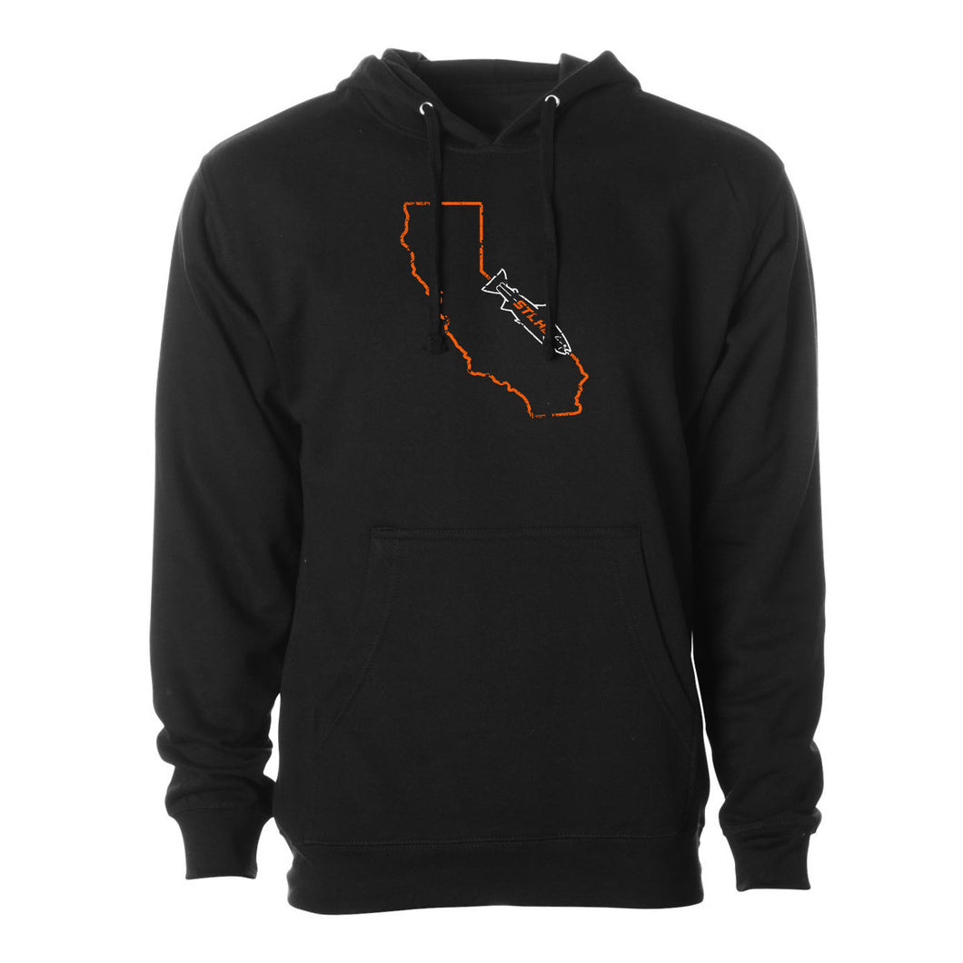STLHD Men's California Home Water Series Black Standard Hoodie