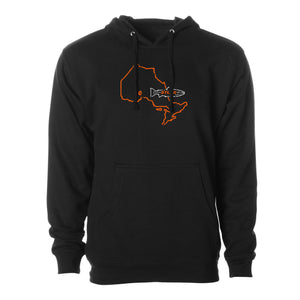 STLHD Men's Ontario Home Water Series Black Standard Hoodie