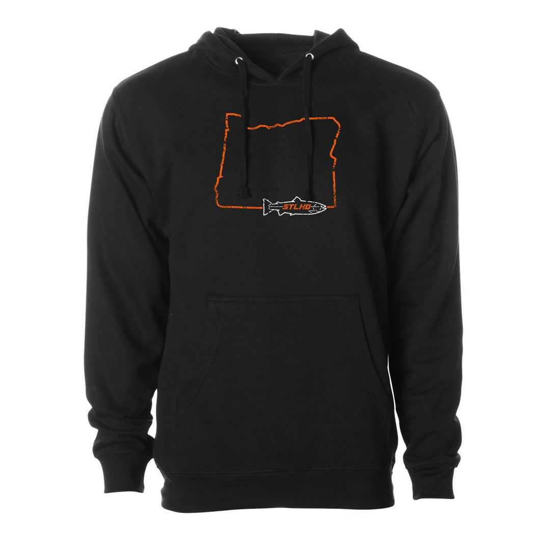 STLHD Men's Oregon Home Water Series Black Standard Hoodie