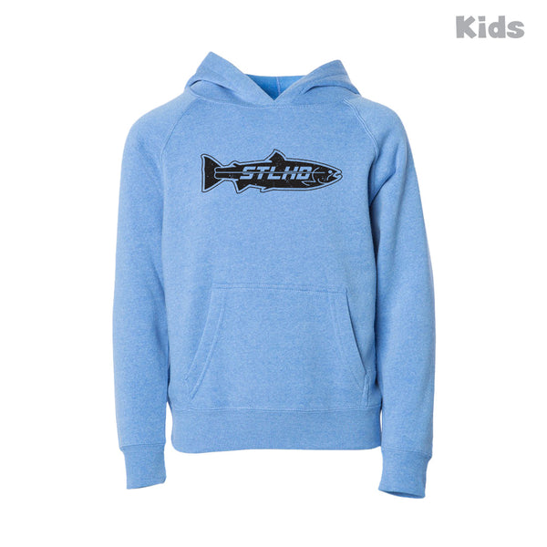 STLHD Kids' Inside Pacific Heather Blue Hoodie