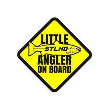 "Load image into Gallery viewer, STLHD Little Angler Sticker - 4"" x 4"" - hhoutfitter"