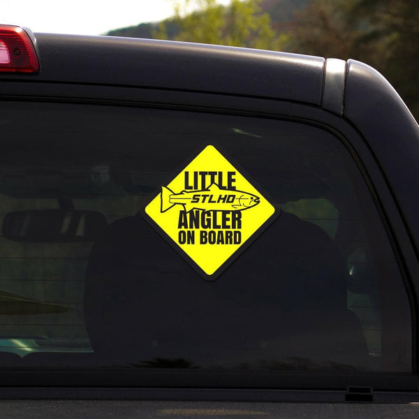 "STLHD Little Angler Sticker - 4"" x 4"" - hhoutfitter"