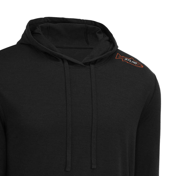 STLHD Men's Owyhee Black Lightweight Hoodie - hhoutfitter