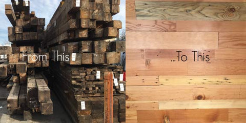 transformation of reclaimed douglas fir mare island