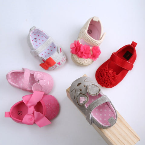 Baby Girls Shoes fit for a Princess - anti skid