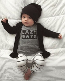 4pc Lazy Days Outfit inc L/S Shirt, Pants, Hat & Jumper