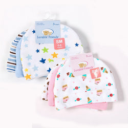 3pc Baby Hats Luvable Friends Pink/Blue Star