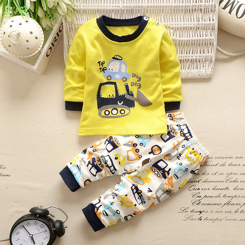 2 PC Groovy Tractor Baby Boy Long Sleeve Top + Pants