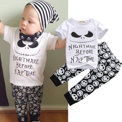 2PC Nightmare Before Nap Time S/S Shirt & Long Pants- Cotton
