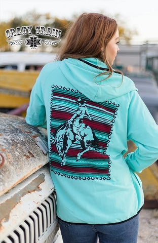 Cowboy Cool Zip Up Hoodie