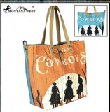 Wild West Cowboys Dual Sided Tote
