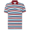 OAKLEY STRIPED PIQUET POLO - Malbon Golf