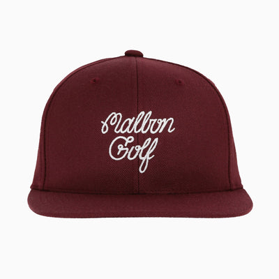 Jones Golf x Malbon Golf Script Logo Snapback Hat