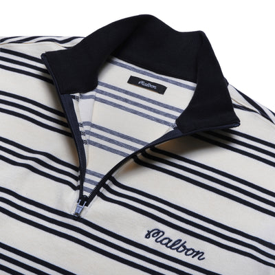 Bon Striped 1/4 Zip - Malbon Golf
