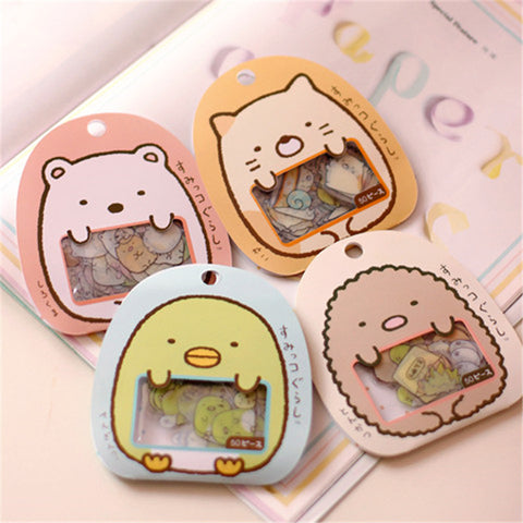 50 Small Cute PVC Animal Stickers - D'aww Factory