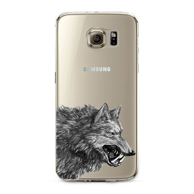 Wolf Transparent Cute Animal Phone Case for Samsung Galaxy
