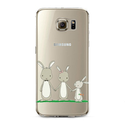 Bunnies Transparent Cute Animal Phone Case for Samsung Galaxy