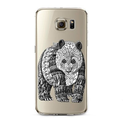 Henna Bear Transparent Cute Animal Phone Case for Samsung Galaxy