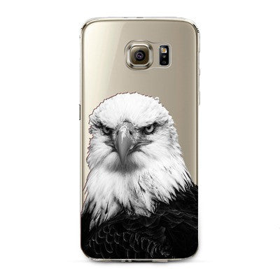Bald Eagle Transparent Cute Animal Phone Case for Samsung Galaxy