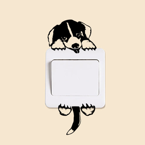 Puppy Tail Wag Cute Animal Wall Stickers